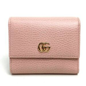 GUCCI 2019SS GG Marmont Folded Bifold Wallet Ligh